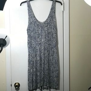 H&M Paisley light Blue Tank Dress